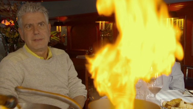 Athony Bourdain at le Continental in Quebec City, Canada.