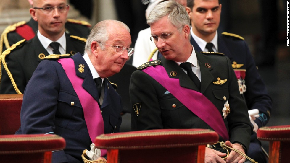 Crown Prince Philippe, right, is the heir to King Albert II of Belgium.