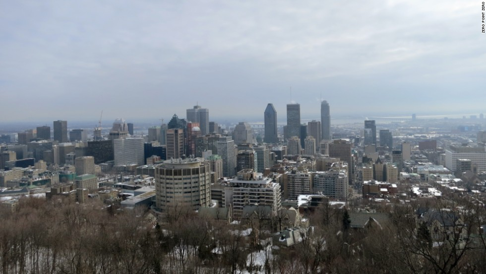 Downtown Montreal provides a dramatic skyline.