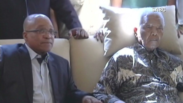 Outrage at pictures of ailing Mandela