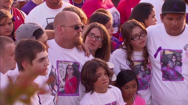 Slain California girl honored at vigil