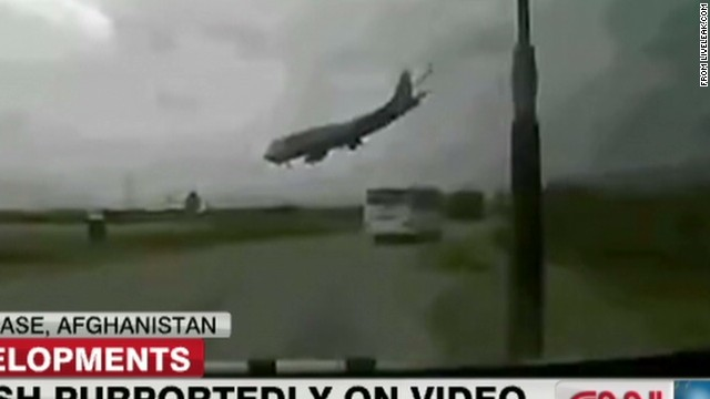 747 crash caught on video