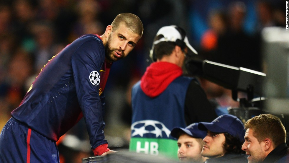 A chastened Gerard Pique reflects on his own goal in the Nou Camp as his side slumped to a 3-0 second leg defeat to Bayern Munich.
