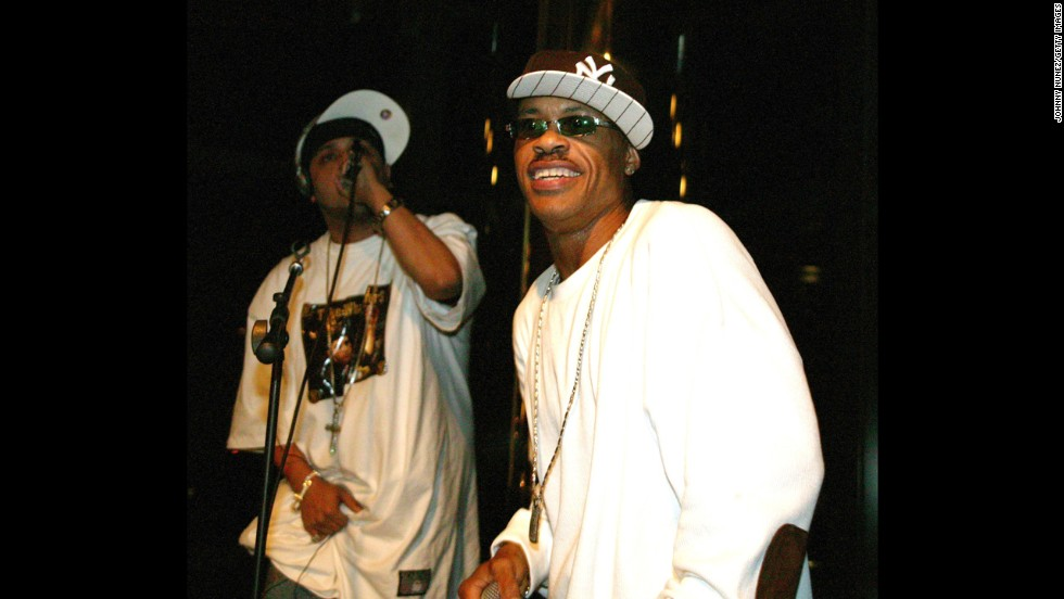 "Gang Starr was known for their prolific and profound lyrics. In 2010, founding member Guru, at right with DJ Doo Wop in 2005, <a href=""http://www.cnn.com/2010/SHOWBIZ/Music/04/20/rapper.guru.dies/index.html"" target=""_blank"">died of cancer.</a>"