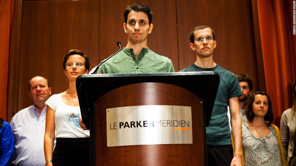 "Josh Fattal, center; Sarah Shourd, left; and Shane Bauer were detained by Iran while hiking near the Iraq-Iran border in July 2009. Iran charged them with illegal entry and espionage. Shourd was released on bail for medical reasons in September 2010; she never returned to face her charges. Bauer and Fattal were convicted in August 2011, but the next month they were <a href=""http://www.cnn.com/2011/WORLD/meast/09/16/iran.hikers.timeline/index.html"">released on bail</a> and had their sentences commuted."