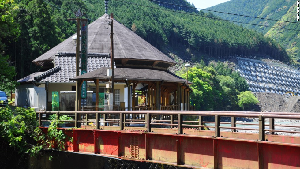 The entrance to Kumano Kodo and the start point of our recommended Nakahechi route, the information center at Takijiri-oji is where pilgrims and tourists can pick up stamp booklets and free bamboo hiking sticks.