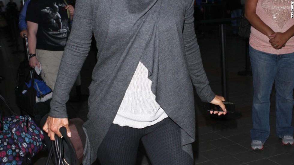 Halle Berry arrives in Los Angeles.