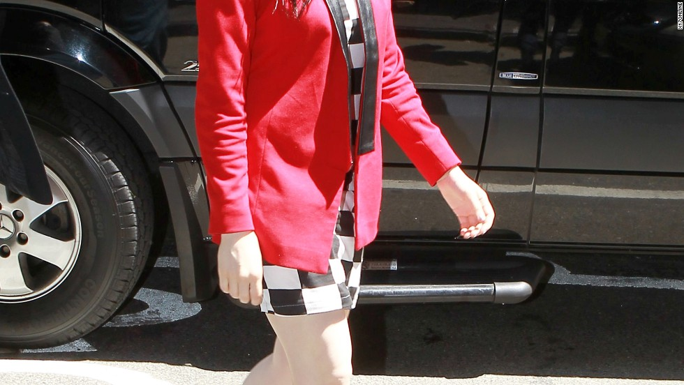 Carly Rae Jepsen arrives at HOT 97 in NYC.