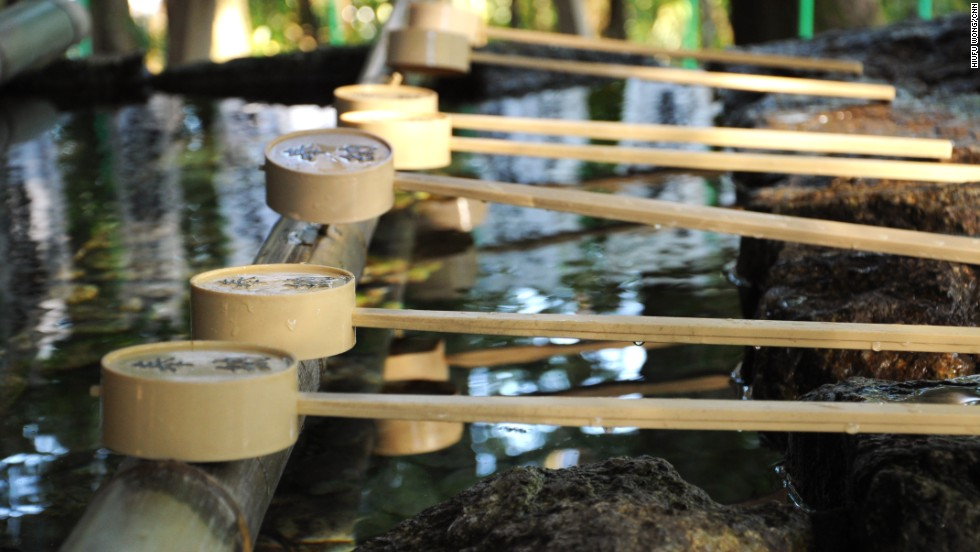 When entering a shrine on the trail, visitors should cleanse their hands and mouths at each shrine's purification fountain.