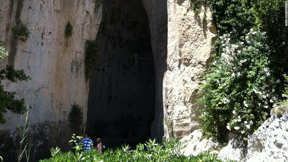 The Ear of Dionysius is a 30-meter high rock cavern in Syracuse's botanic garden and reportedly where the tyrant Dionysius jailed his enemies to hear what they were conspiring through a side room. The town is also home to Apollo's temple and the magnificent Piazza del Duomo.