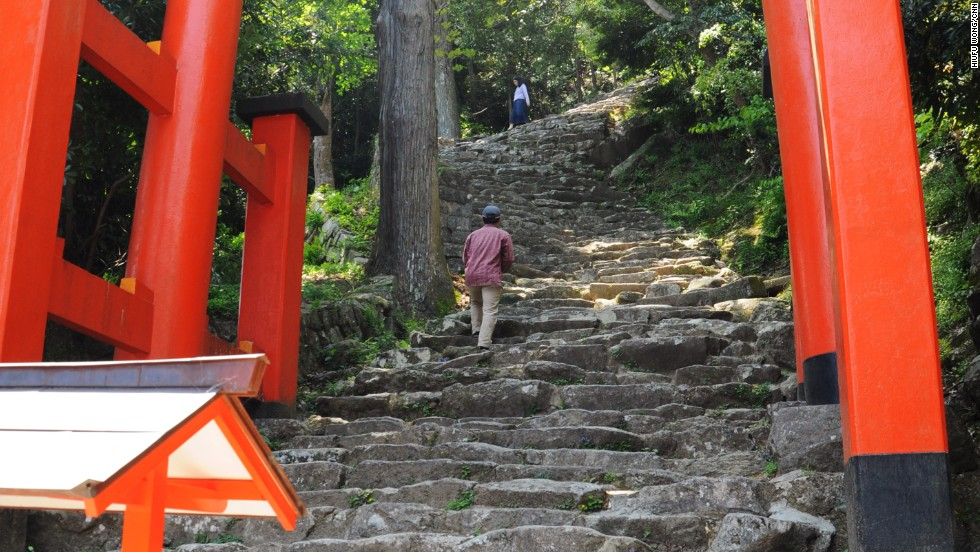 Locals climbing these steep steps in dresses and suit pants make the vertical ascent seem easy. It isn't.