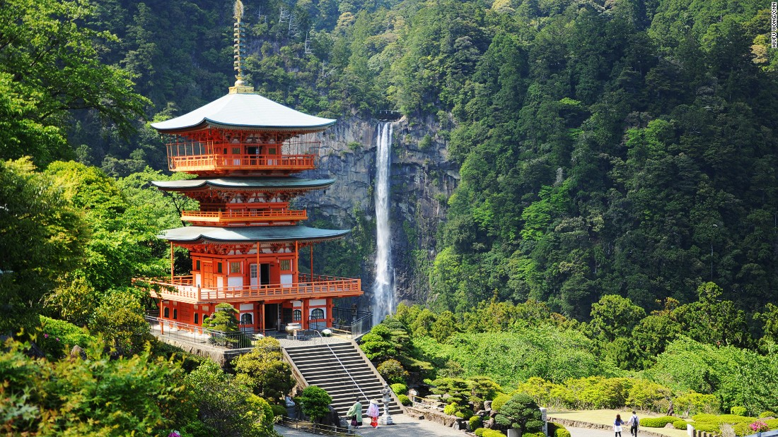 "Nachi Falls, at 133-meters high, is the biggest waterfall in Japan. <br />It steals some of the attention from Kumano Nachi Taishai, a sacred shrine built close by.<br />It's usually the last stop of the scenic pilgrimage known as Kumano Kodo. <br />Find out how to tackle <a href=""http://edition.cnn.com/2013/05/06/travel/japan-kumano-kodo-hike/"">Kumano Kodo, world's best unknown hike here</a>.<br /><em><a href=""https://www.wakayama-kanko.or.jp/world/english/things/history/list01/detail011.html"" target=""_blank"">Nachi Falls</em></a><em>, Nachikatsuura, Wakayama, Japan</em>"