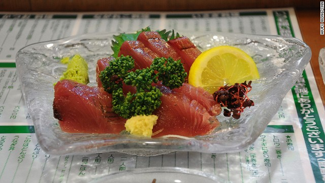 Tuna sashimi never tastes the same after trying the fresh local version in Tanabe City.
