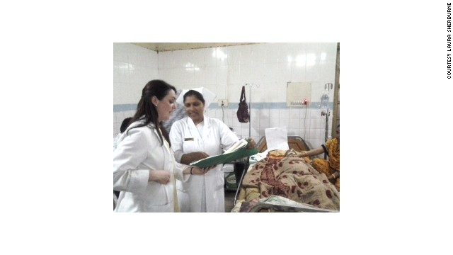 Laura Sherburne is helping train nurses at Dhaka Medical College Hospital. Many of the victims of the building collapse were taken there for treatment.