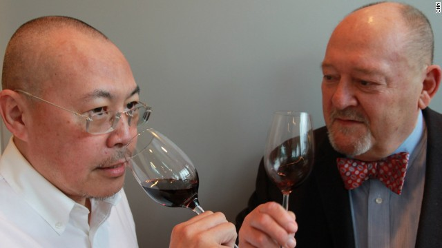 All in the nose: Lau Chi-sun and Roy Moorfield, Cathay Pacific's wine consultants
