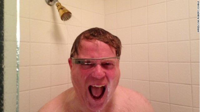Tech journalist Robert Scoble posted this photo of himself wearing Google Glass in the shower last year.