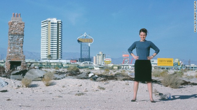 "Denise Scott Brown in Las Vegas around 1966. She co-wrote the seminal book ""Learning from Las Vegas."""
