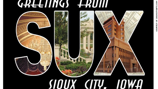 Sioux City, Iowa, has capitalized on its unfortunate airport initials with T-shirts, coffee mugs and postcards.