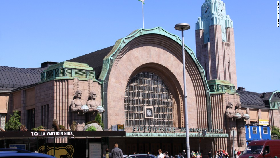 Before architect Eliel Saarinen moved from Finland to the United States, he left Helsinki a lasting legacy: the Central Station, which opened in 1919.