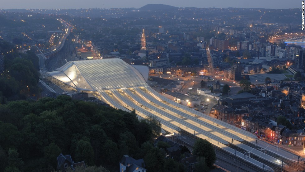 The stunning steel and glass Liège-Guillemins Station, designed by Spanish architect Santiago Calatrava, was unveiled in 2009.