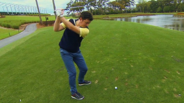 The toughest shot in golf?