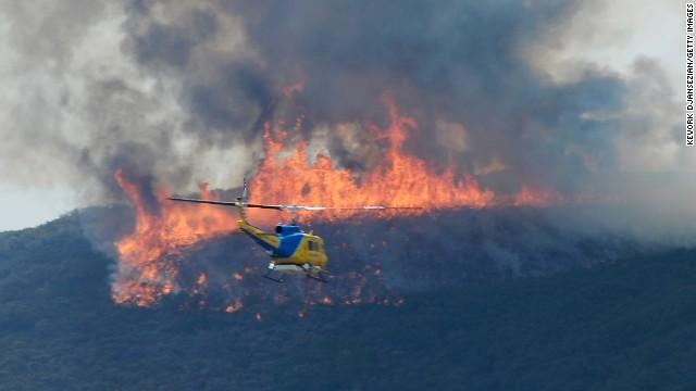 Wildfires threaten California homes