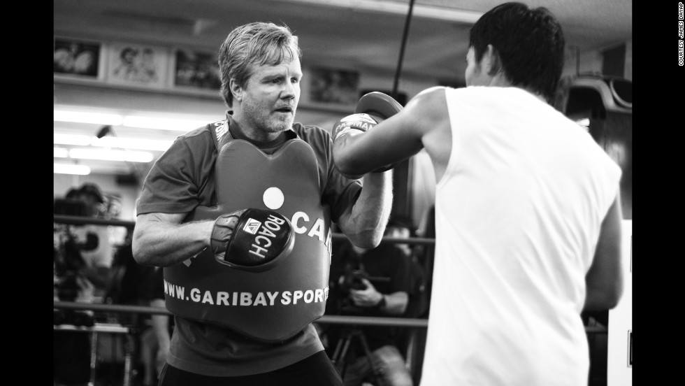 Pacquiao trained in Los Angeles for the welterweight title match against Bradley.