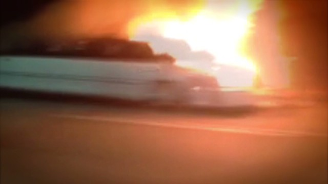 Limo driver recounts 'horrific' fire