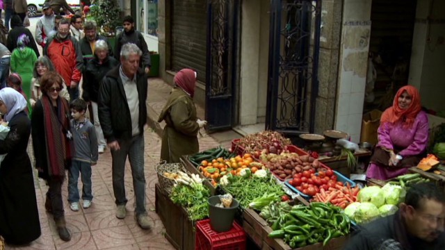 Bourdain explores the souk in Tangier