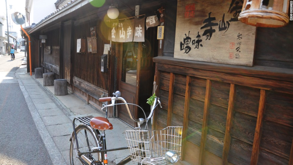 Yuasa was a center of production for Kinzanji miso (soybean paste). Then the miso byproduct of soy sauce was discovered and the town found its lasting identity.