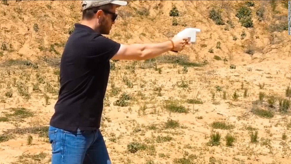 Defense Distributed, a Texas nonprofit group, posted a YouTube video it says shows the first live firing of a handgun entirely created with a 3-D printer.
