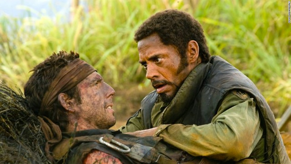 "In 2008, Downey (at right with Ben Stiller) was nominated for a Best Supporting Actor Oscar for his role in ""Tropic Thunder,"" in which he portrayed an actor who had ""pigmentation alteration"" surgery."