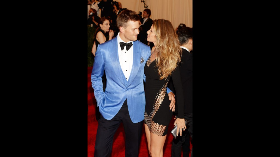 Tom Brady and Gisele Bundchen attend the gala.