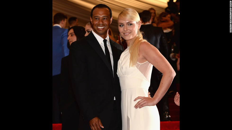 Tiger Woods and Lindsey Vonn attend the gala.