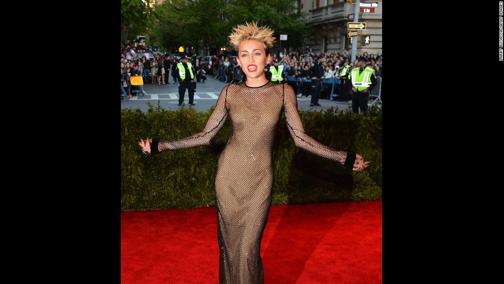 Miley Cyrus attends the gala.