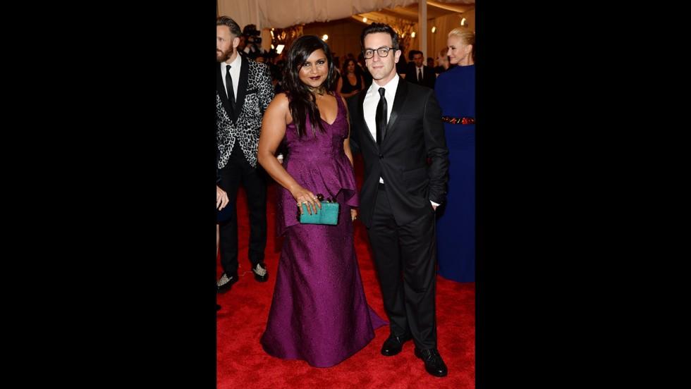 Mindy Kaling and B.J. Novak attend the gala.