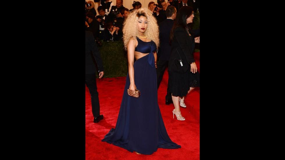 Nicki Minaj attends the gala.