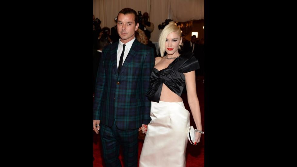 Rocker couple Gavin Rossdale and Gwen Stefani attend the gala.