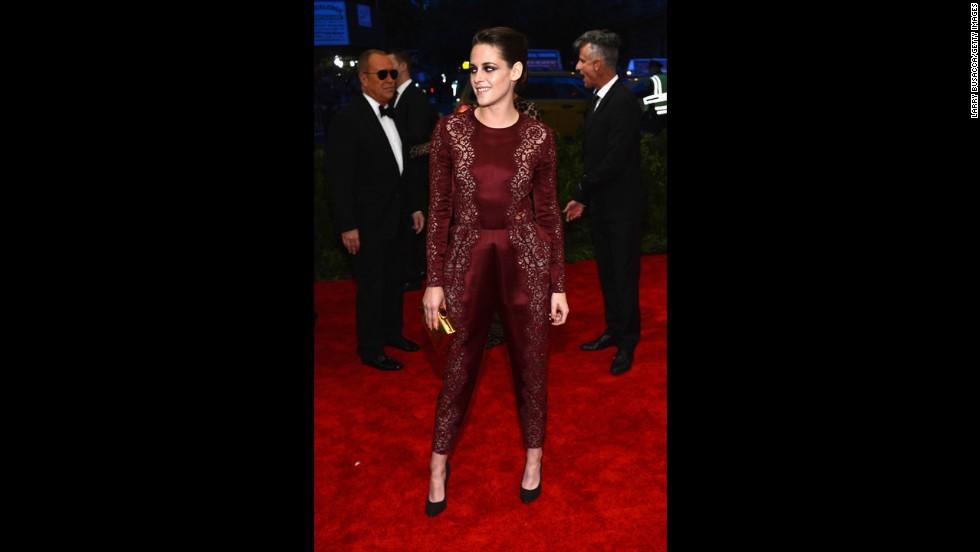 Actress Kristen Stewart attends the gala.