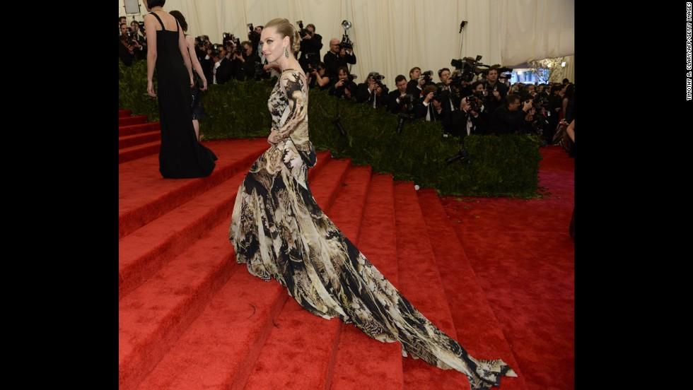 Actress Amanda Seyfried attends the gala.