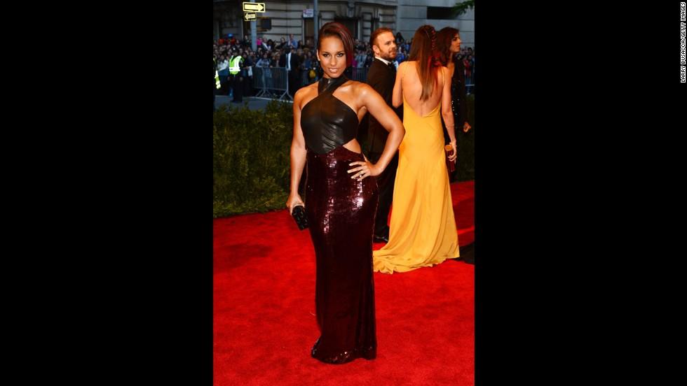 Singer Alicia Keys attends the gala.