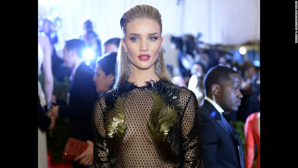 Rosie Huntington-Whiteley attends the gala.