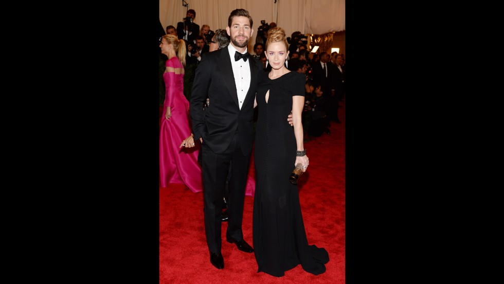 John Krasinski and Emily Blunt attend the gala.