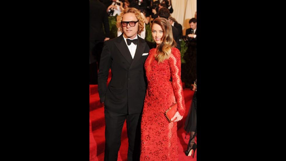 Peter Dundas and Amber Heard attend the gala.