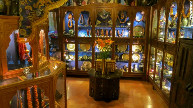 A view of the collection at Boutique Majid, an antique shop in Tangier.