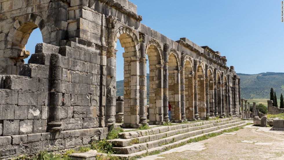 The Roman ruins of Volubilis can be found in Morocco's holiest town, Moulay Idriss.