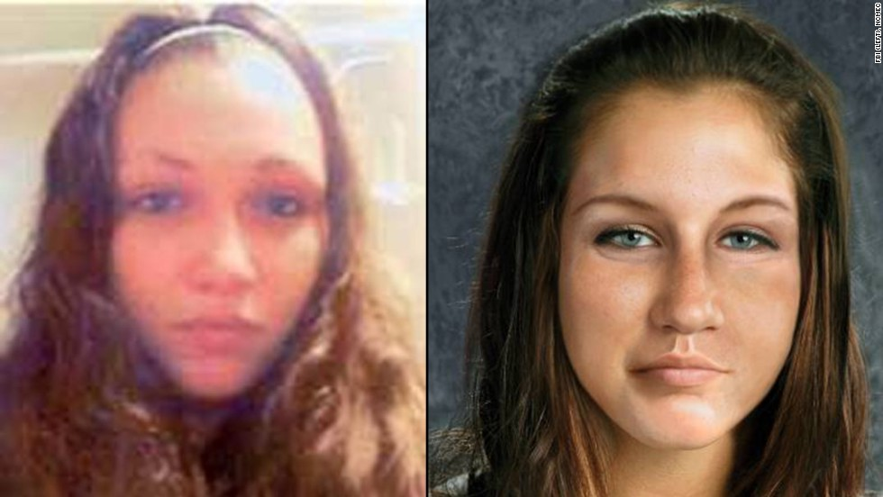 A photo of Ashley Summers, who was last seen in the Cleveland area on July 9, 2007, beside an age-progressed rendering of her.