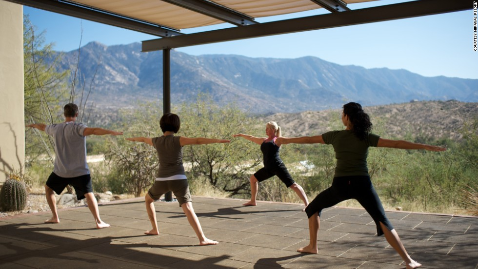 Pursue yoga, meditation or rock climb along with Fortune 500 executives at Miraval Resort, just outside Tucson.