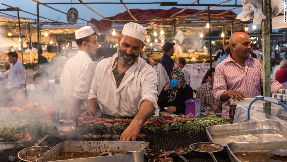 Fancy a camel spleen kebab or a super-sweet, deep-fried, sesame cookie? Here's the lowdown on street snacking, Moroccan-style.