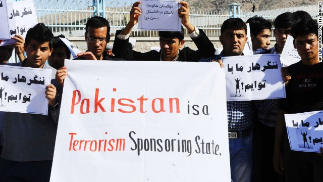 Afghan protesters during a demonstration against Pakistan in Herat, May 8, 2013.